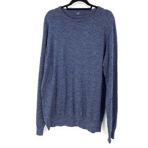 J. Crew Factory Textured Cotton Crew Sweater XLT